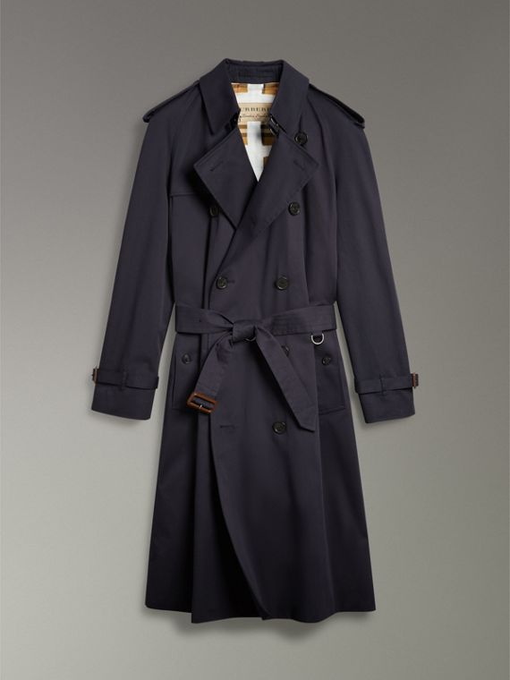Painted Vintage Check-lined Gabardine Trench Coat in Ink Blue - Men | Burberry Hong Kong - cell image 3