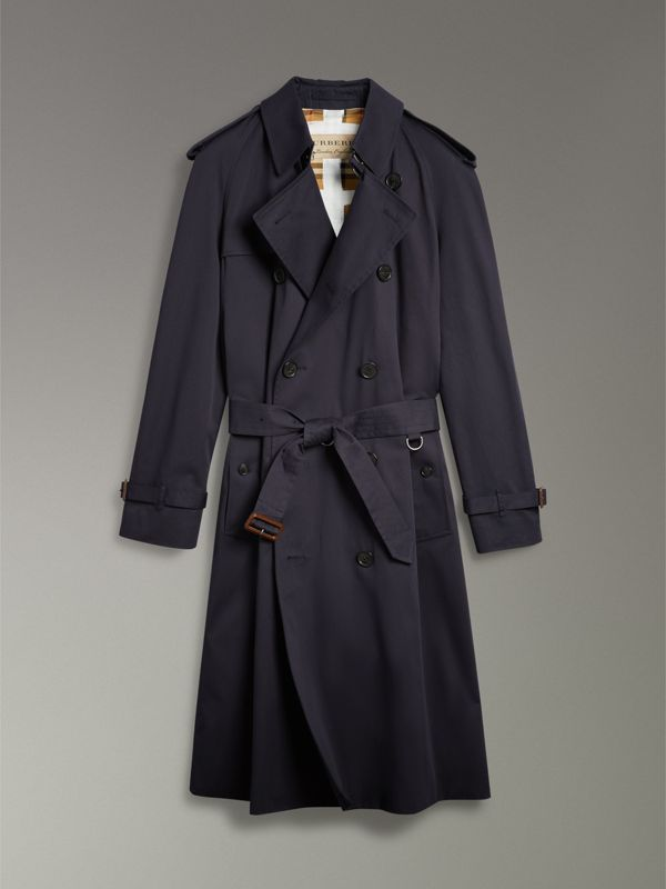 Painted Vintage Check-lined Gabardine Trench Coat in Ink Blue - Men | Burberry - cell image 3