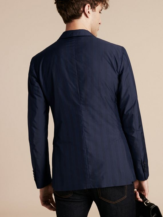 Navy Slim Fit Striped Lightweight Blazer - cell image 2