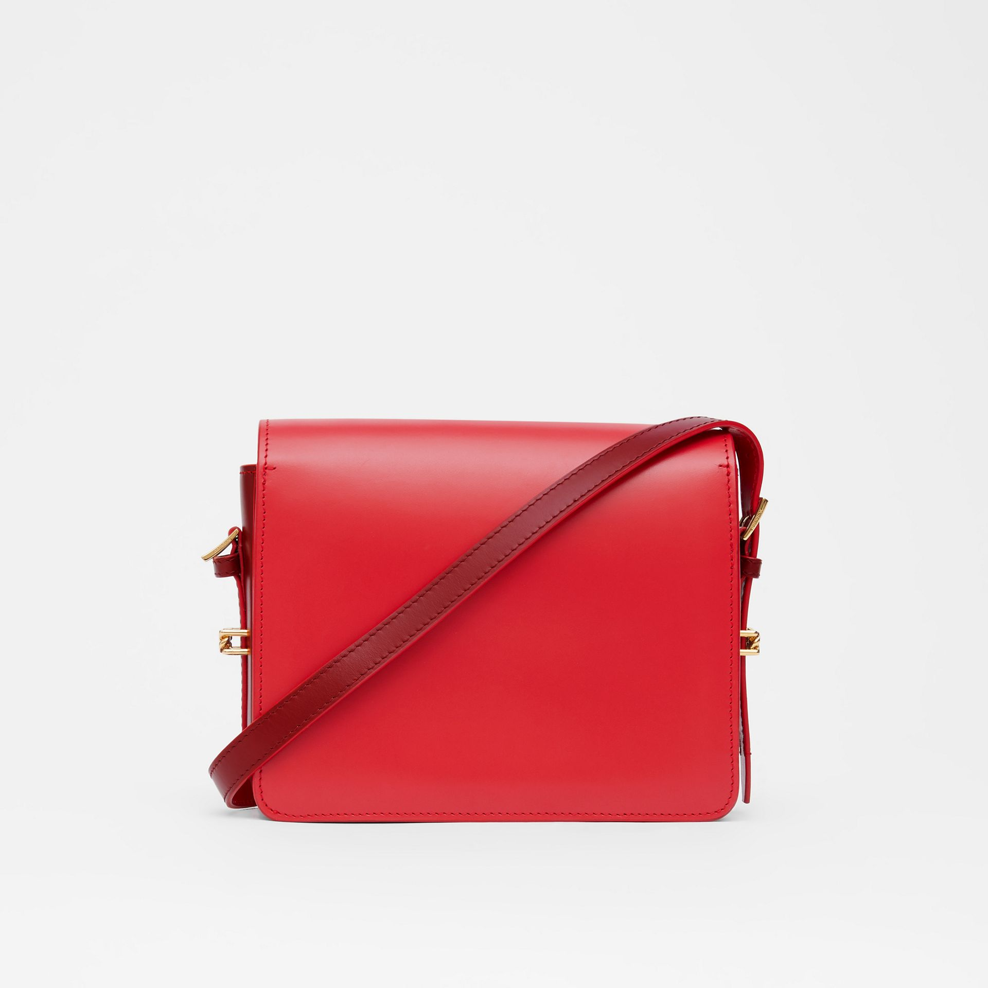 Small Two-tone Leather Grace Bag in Bright Red/burgundy - Women | Burberry - gallery image 7