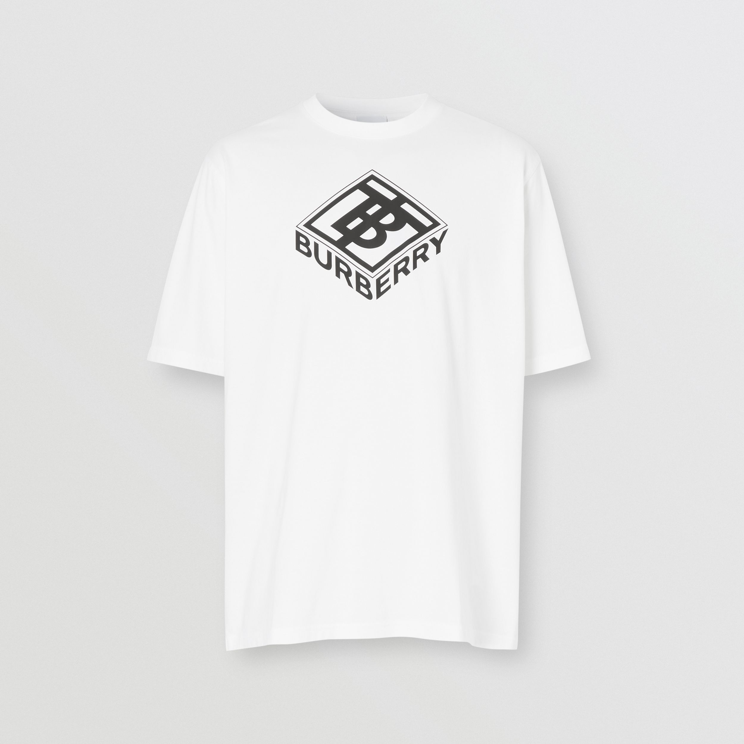 Logo Graphic Cotton T-shirt in White - Men | Burberry - 4