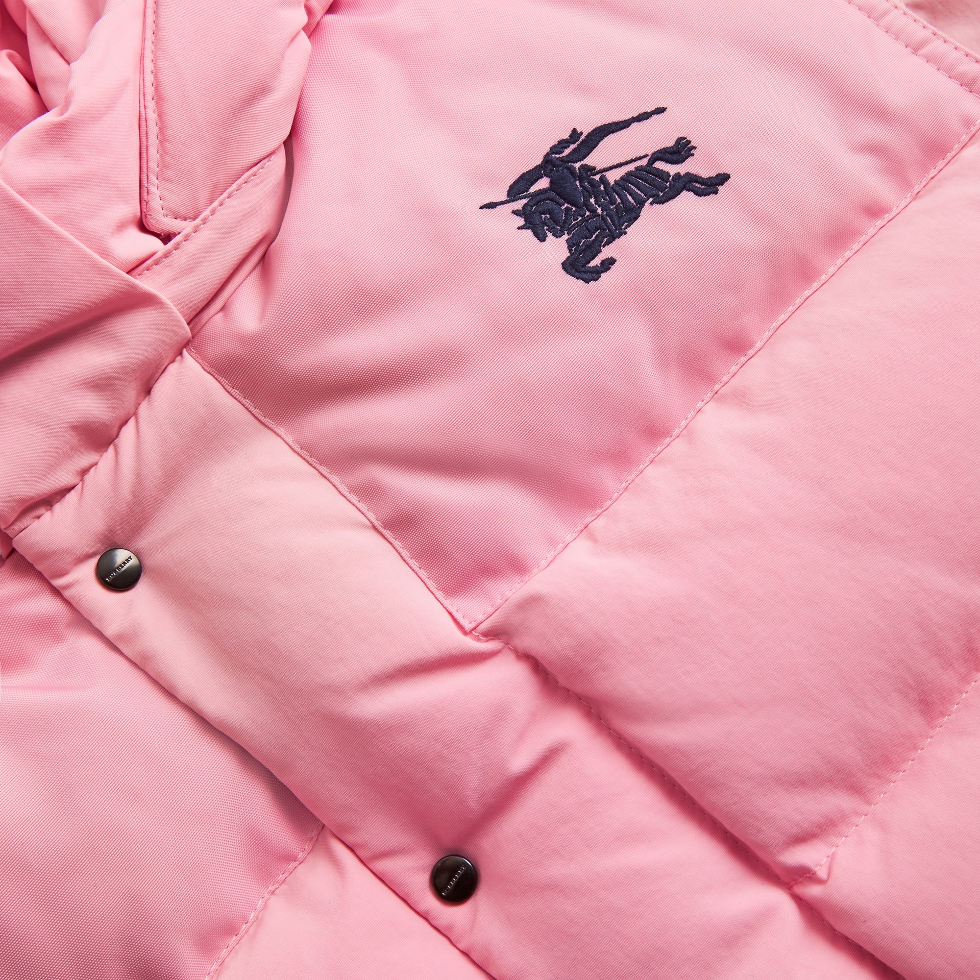 Detachable Hood Down-filled Puffer Jacket in Ice Pink | Burberry - gallery image 1