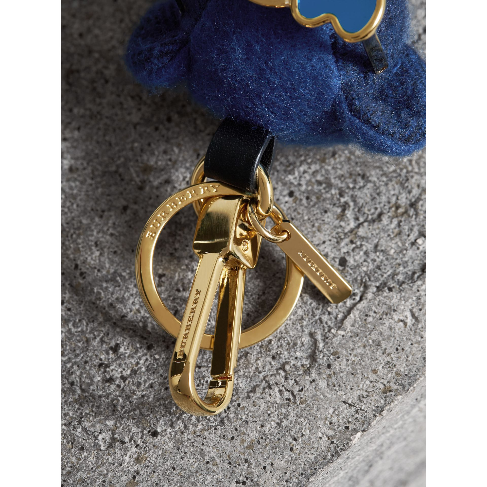 Thomas Bear Charm with Beachwear Detail in Cadet Blue | Burberry United Kingdom - gallery image 1