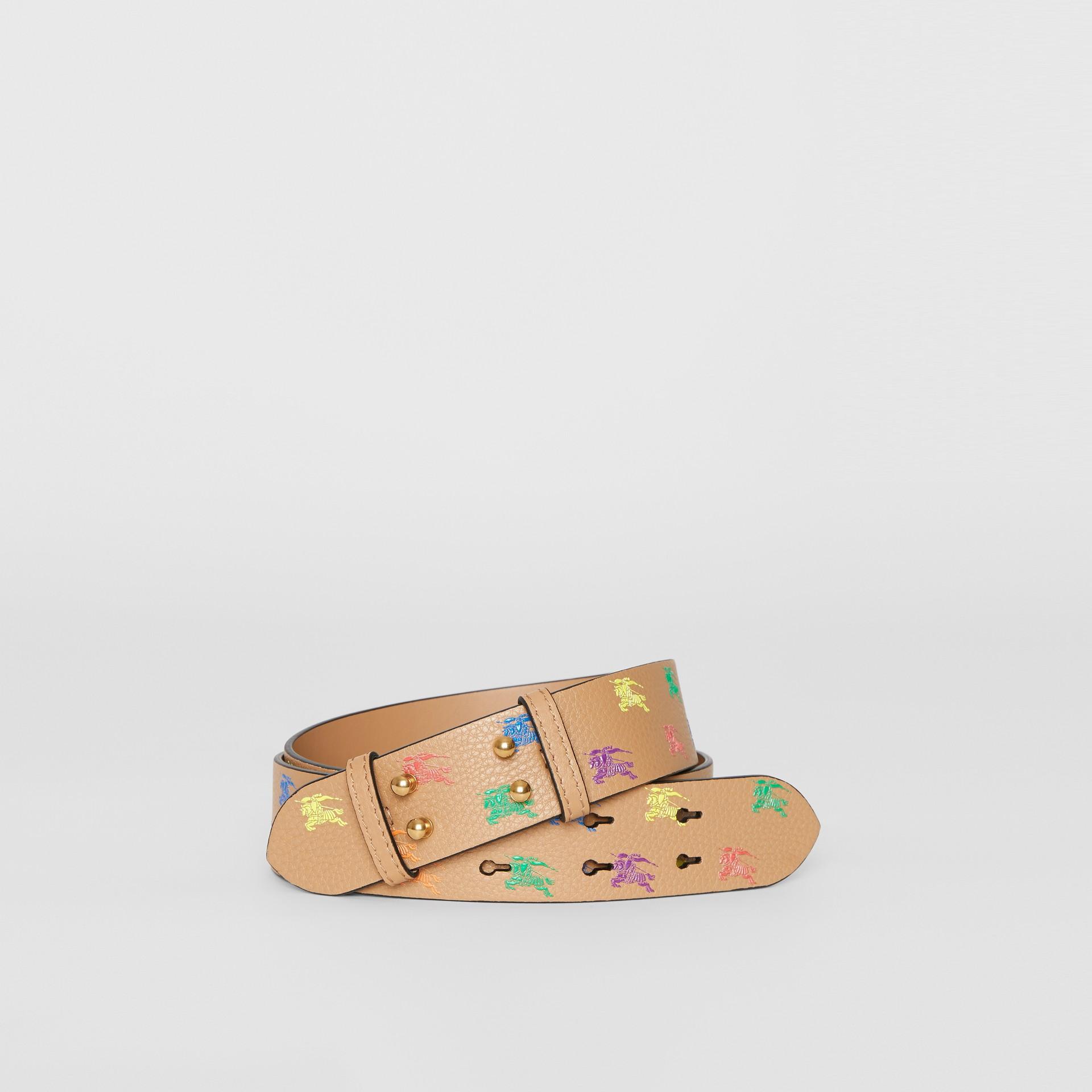Ledergürtel mit Ritteremblem für The Medium Belt Bag (Helles Camelfarben) - Damen | Burberry - Galerie-Bild 0