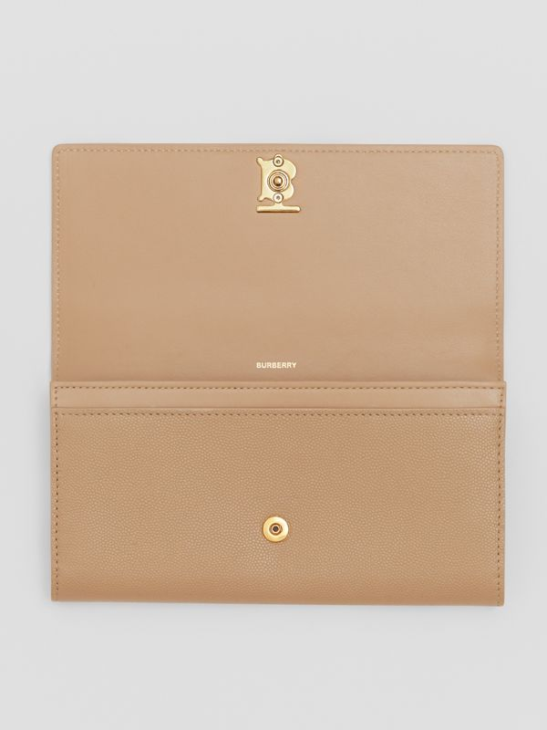 Monogram Motif Grainy Leather Continental Wallet in Archive Beige - Women | Burberry - cell image 3