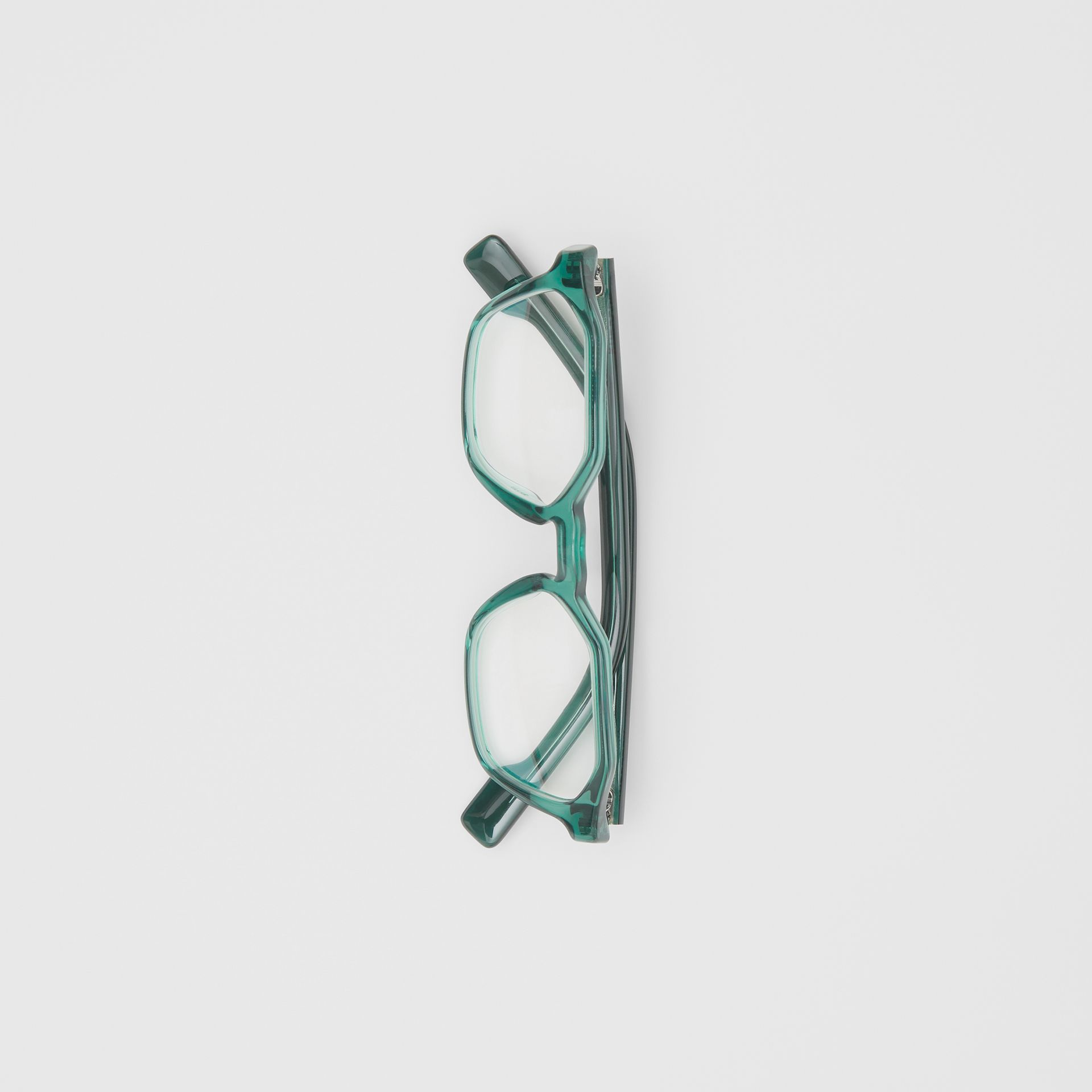 Geometric Optical Frames in Green - Women | Burberry Canada - gallery image 2