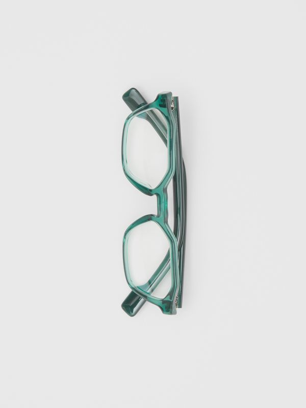 Geometric Optical Frames in Green - Women | Burberry United Kingdom - cell image 2
