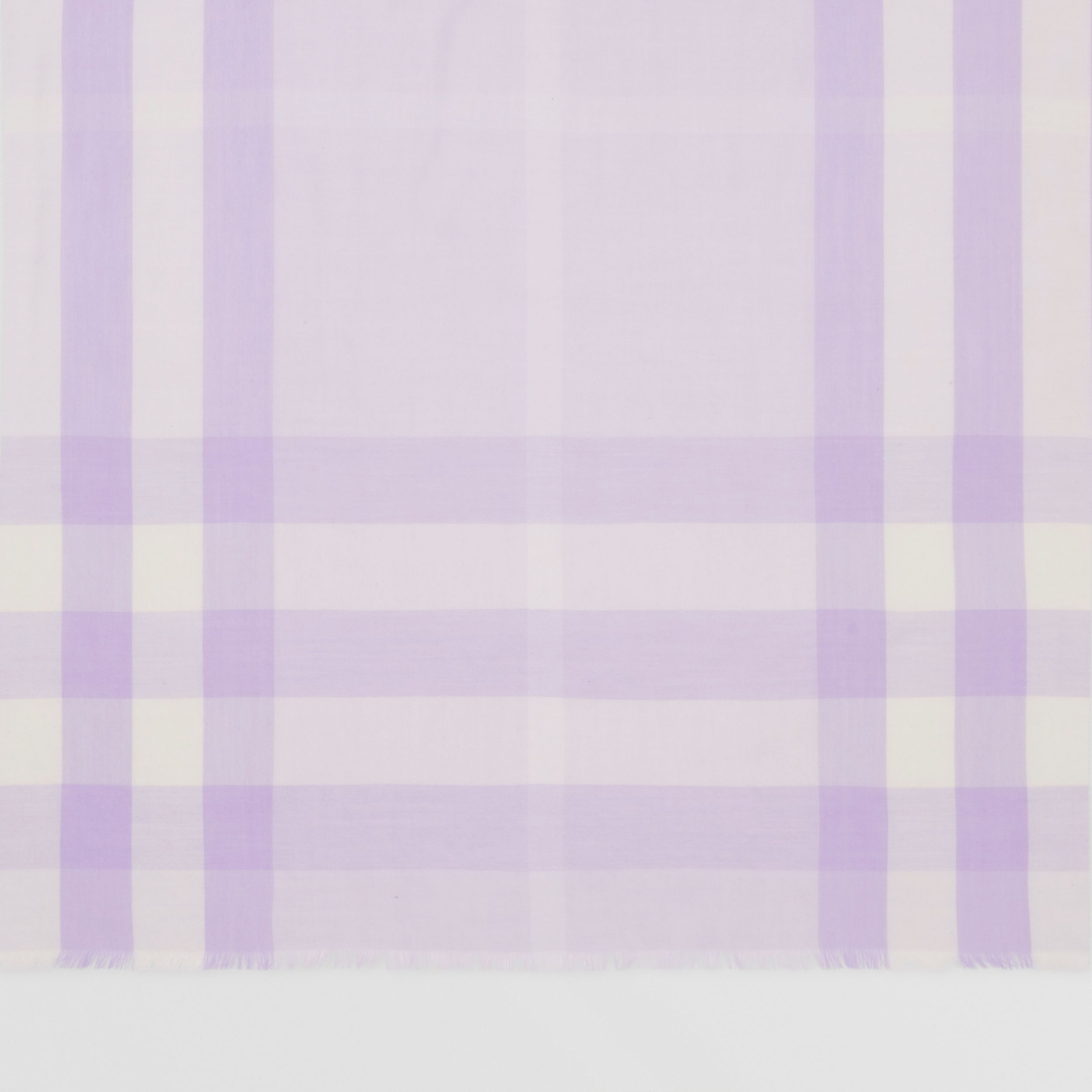 Lightweight Check Cashmere Scarf in Lilac | Burberry - 2