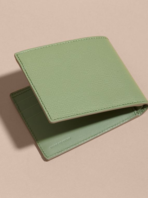 London Leather Slim Folding Wallet Antique Green - cell image 3