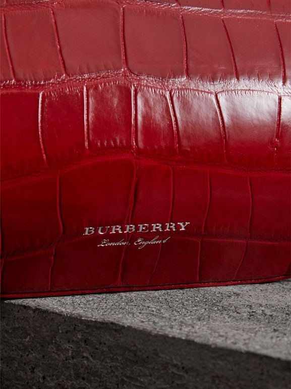 Small Alligator Frame Bag in Bright Red - Women | Burberry Hong Kong - cell image 1