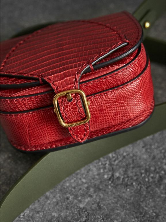 The Pocket Satchel in Lizard in Clove Red - Women | Burberry - cell image 1