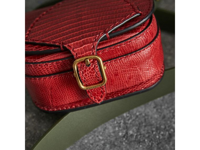 The Pocket Satchel in Lizard in Clove Red - Women | Burberry United Kingdom - cell image 1