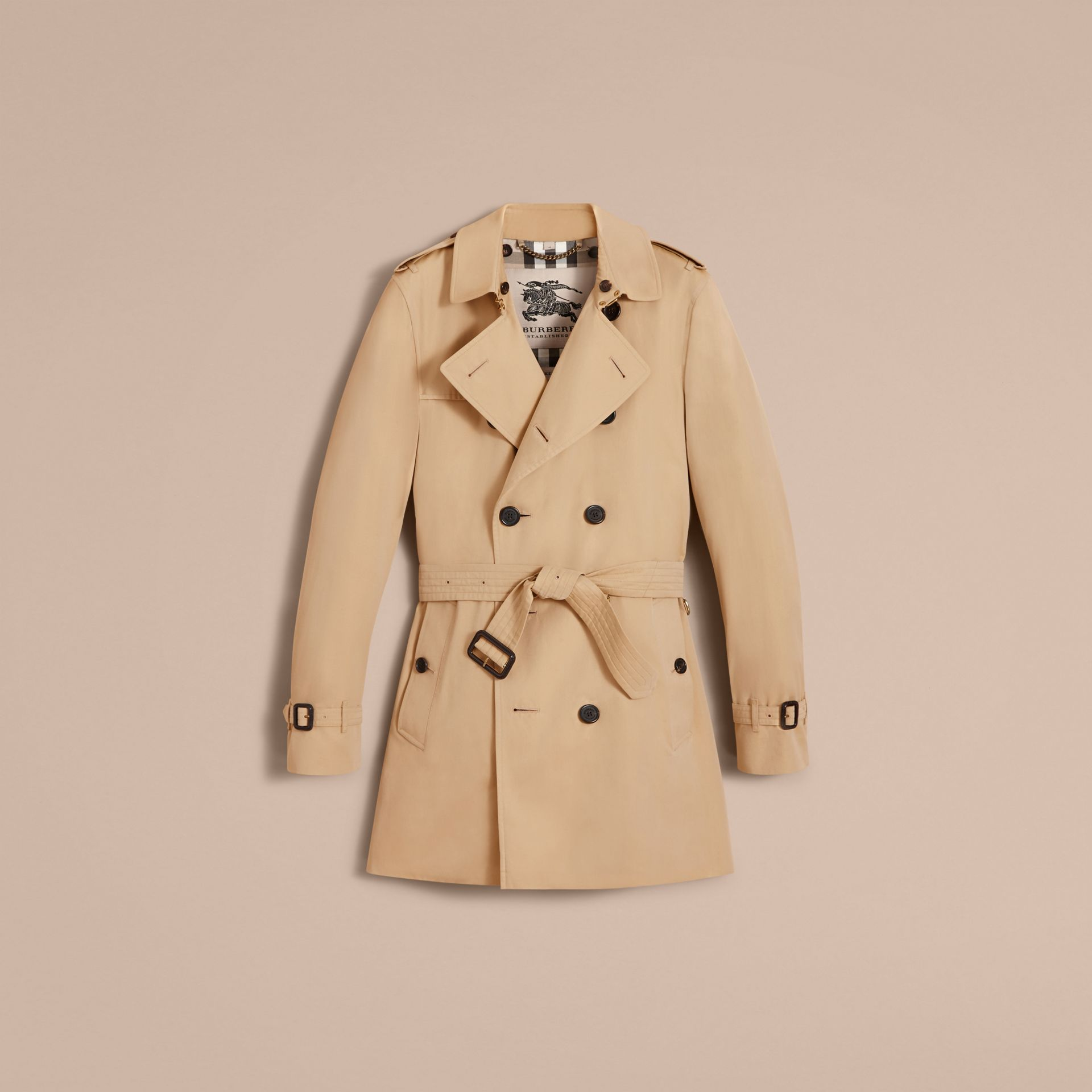 The Kensington – Mid-Length Heritage Trench Coat in Honey - Men | Burberry - gallery image 4