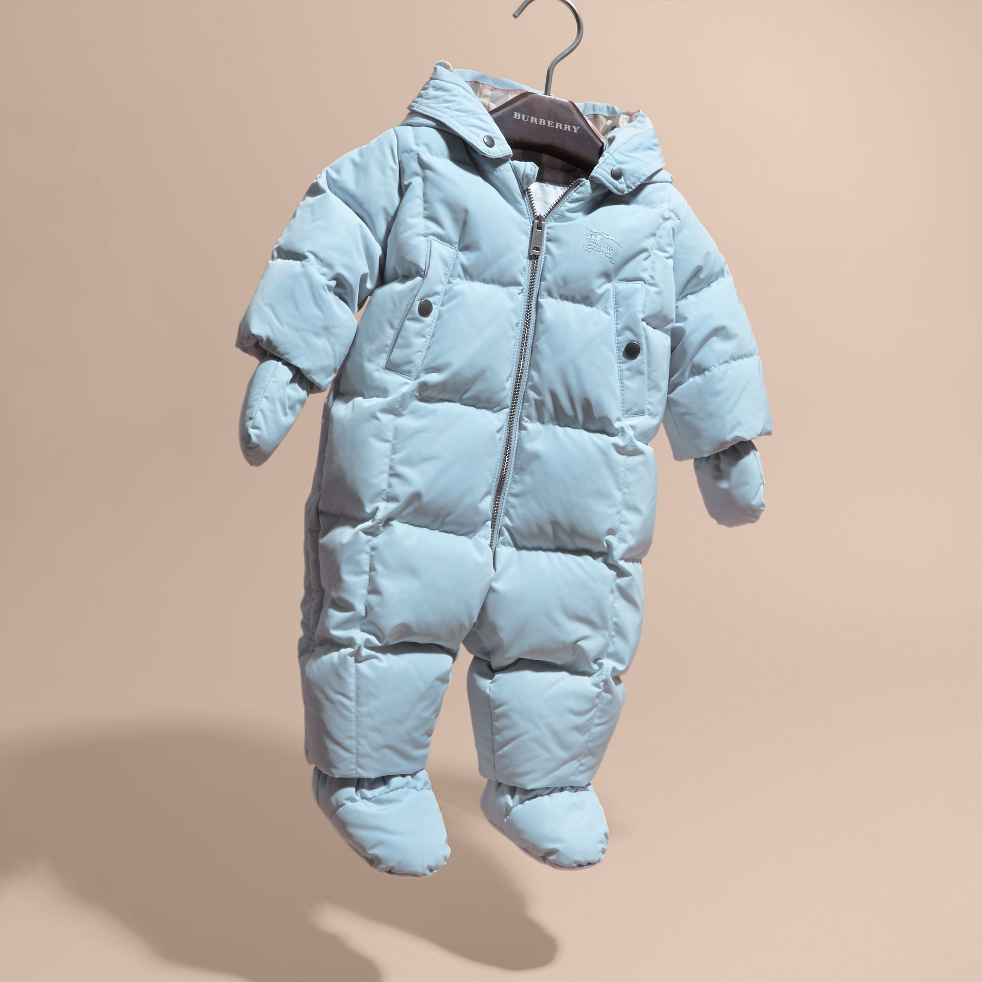 Ice blue Down-filled Puffer Suit Ice Blue - gallery image 3