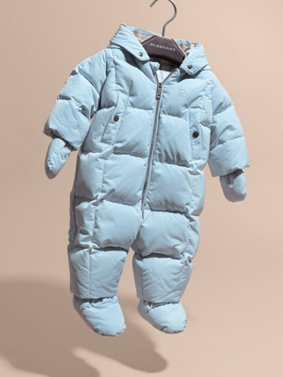 Ice blue Down-filled Puffer Suit Ice Blue - cell image 2