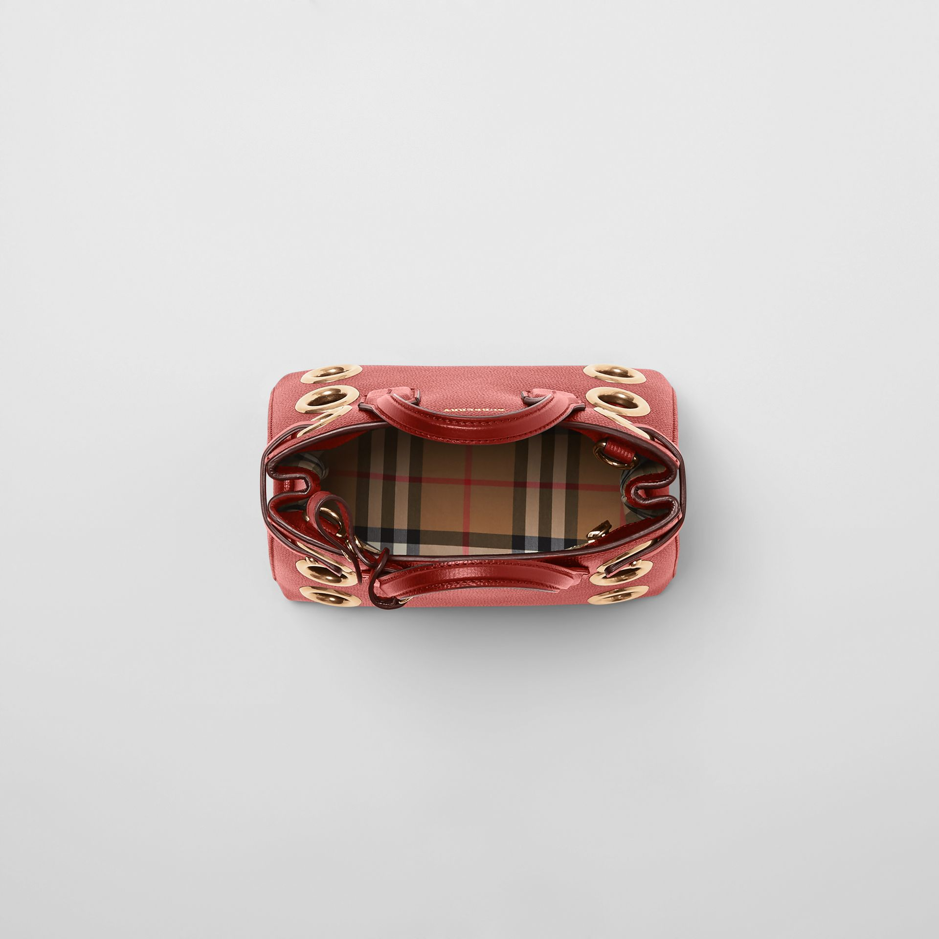 The Baby Banner in Grommeted Leather in Crimson - Women | Burberry United States - gallery image 3