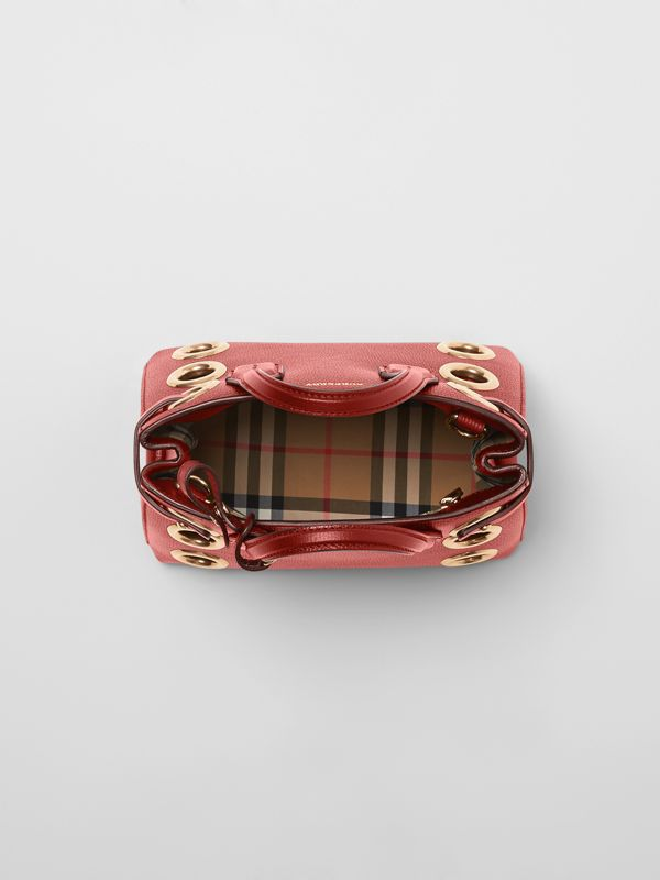 The Baby Banner in Grommeted Leather in Crimson - Women | Burberry - cell image 3