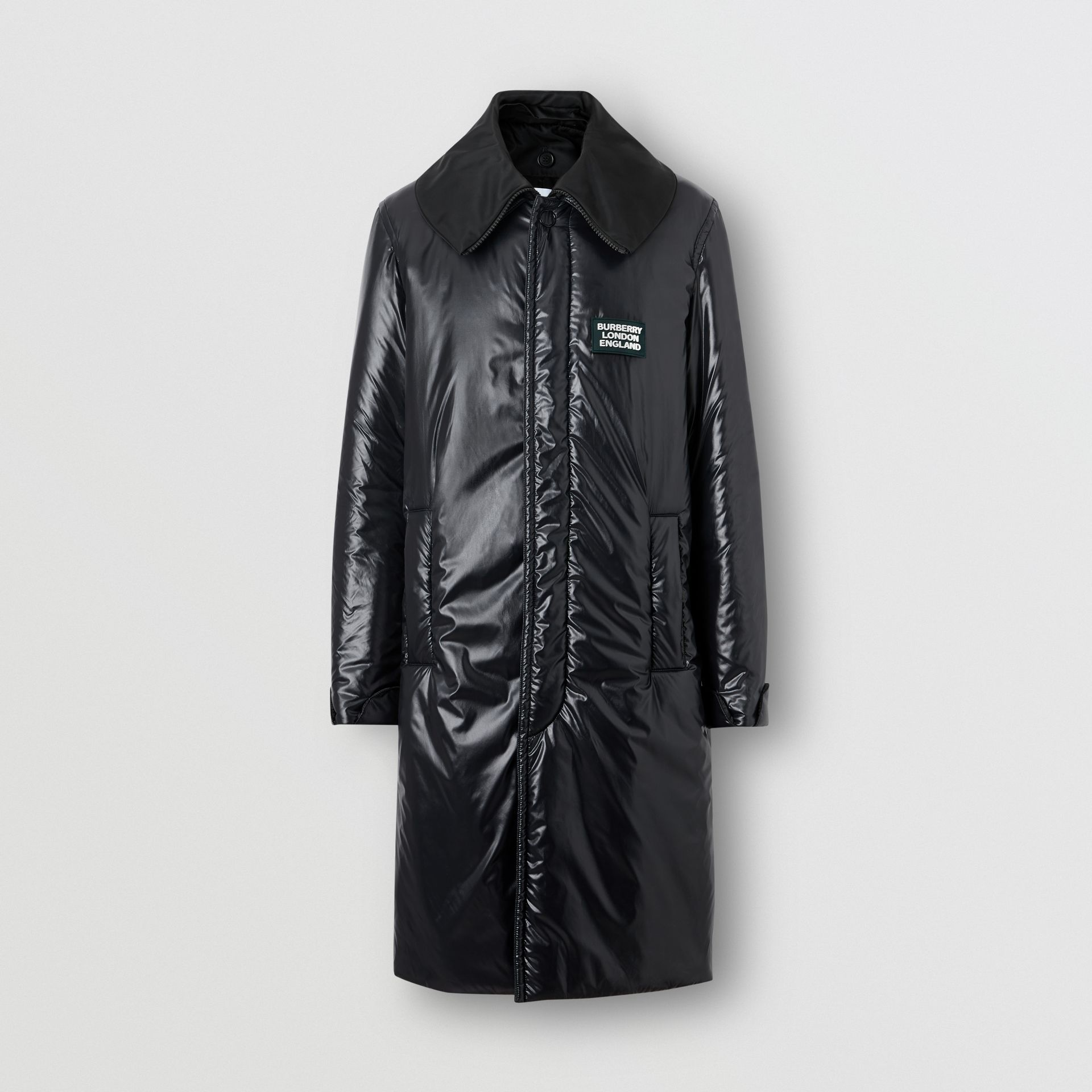 Detachable Funnel Neck Padded Nylon Car Coat in Black - Men | Burberry - gallery image 2