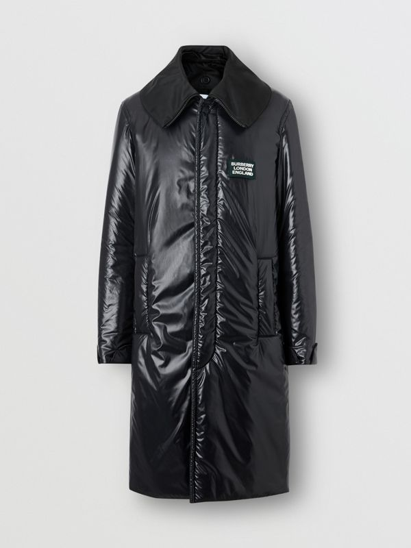 Detachable Funnel Neck Padded Nylon Car Coat in Black - Men | Burberry - cell image 2