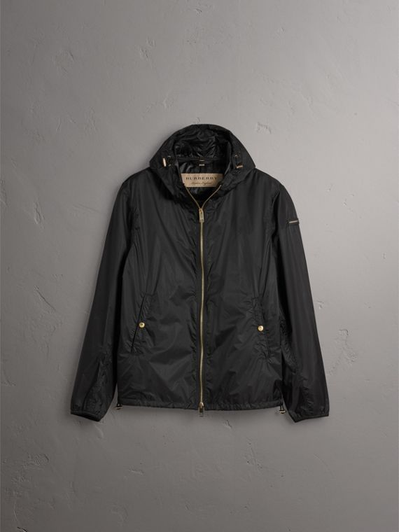 Hooded Super-lightweight Jacket in Black - Men | Burberry - cell image 3