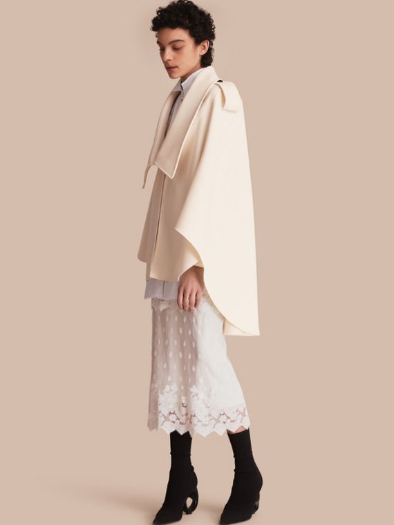 Tailored Wool Cashmere Cape - Women | Burberry Australia