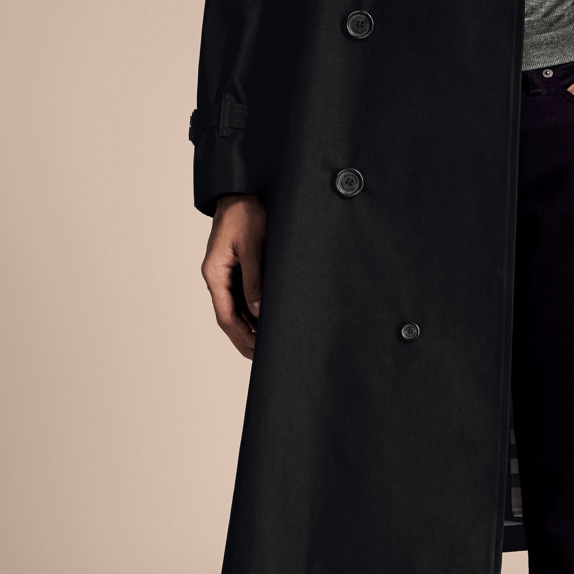 Black The Westminster – Long Heritage Trench Coat Black - gallery image 7