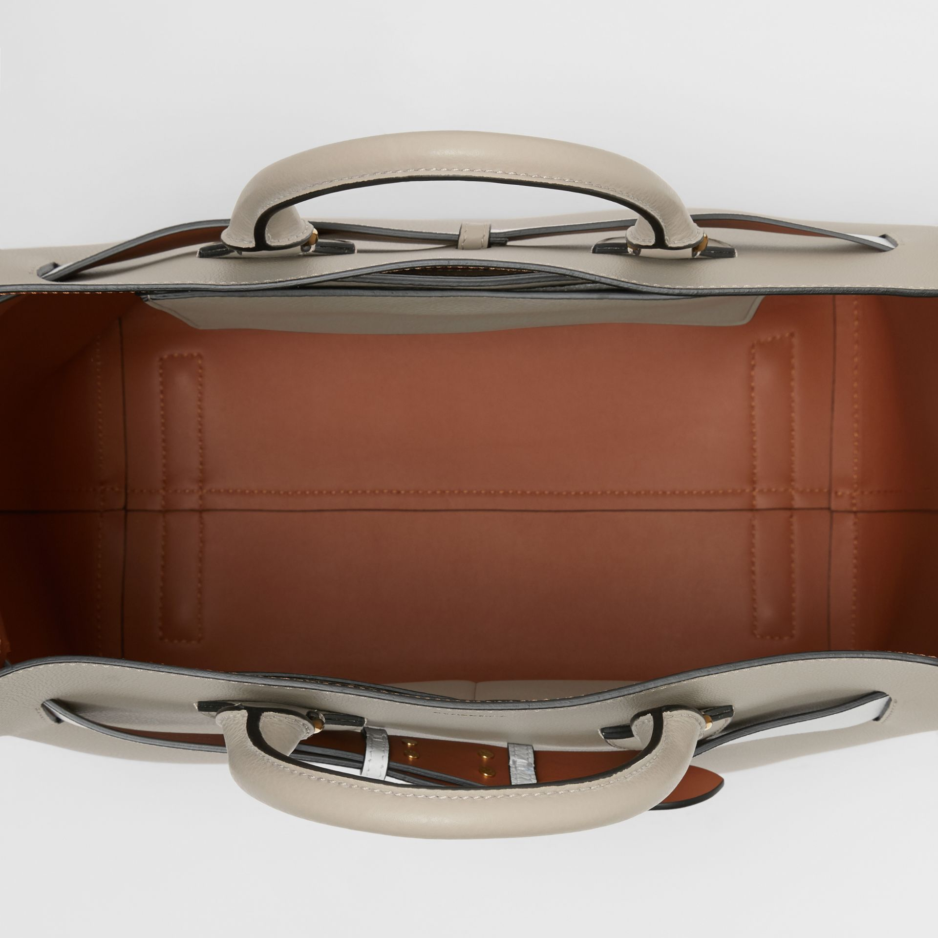 The Large Leather Belt Bag in Mineral Grey | Burberry - gallery image 3