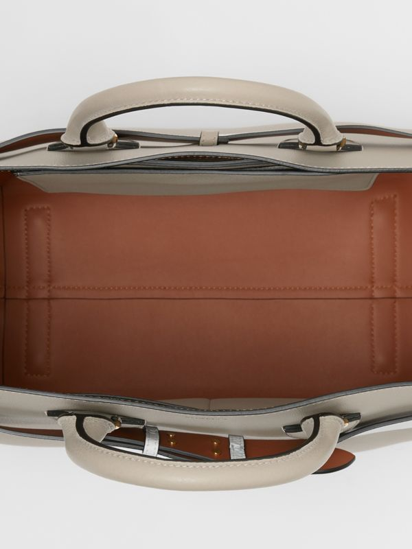 The Large Leather Belt Bag in Mineral Grey | Burberry - cell image 3