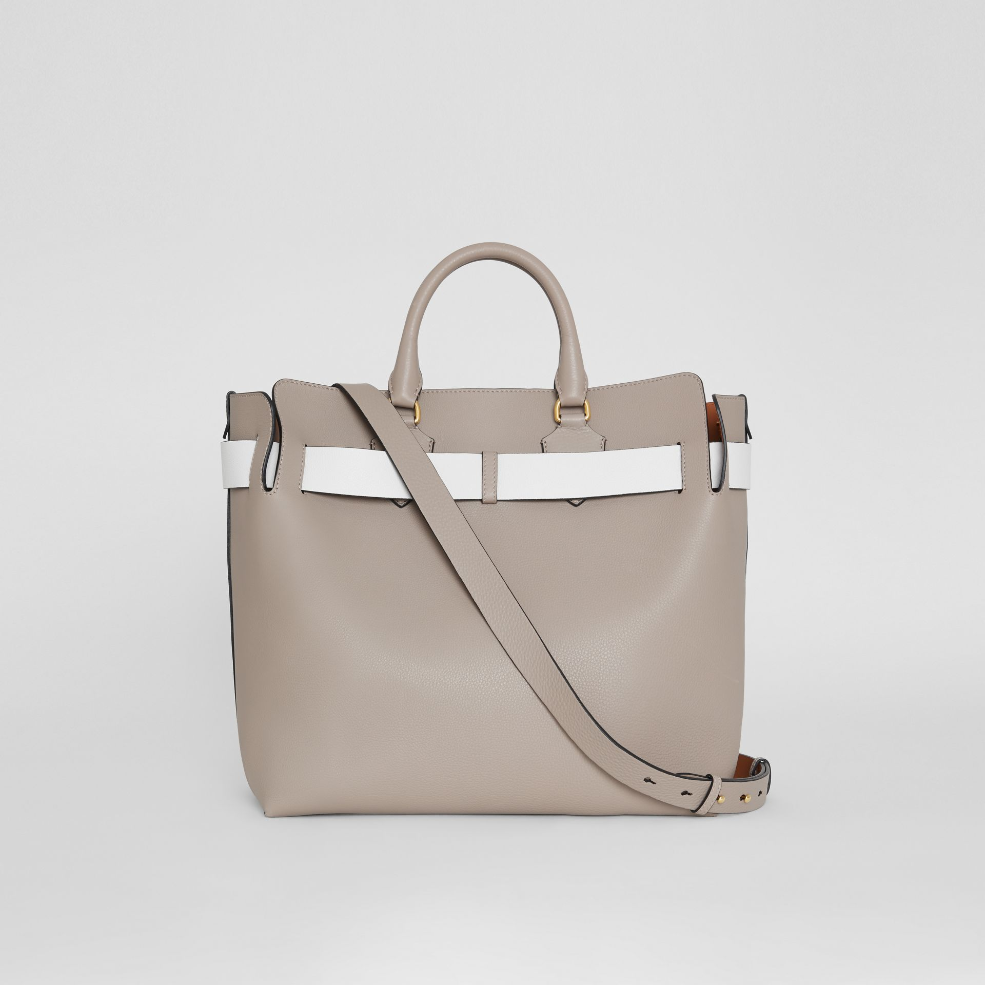 The Large Leather Belt Bag in Mineral Grey | Burberry Canada - gallery image 9