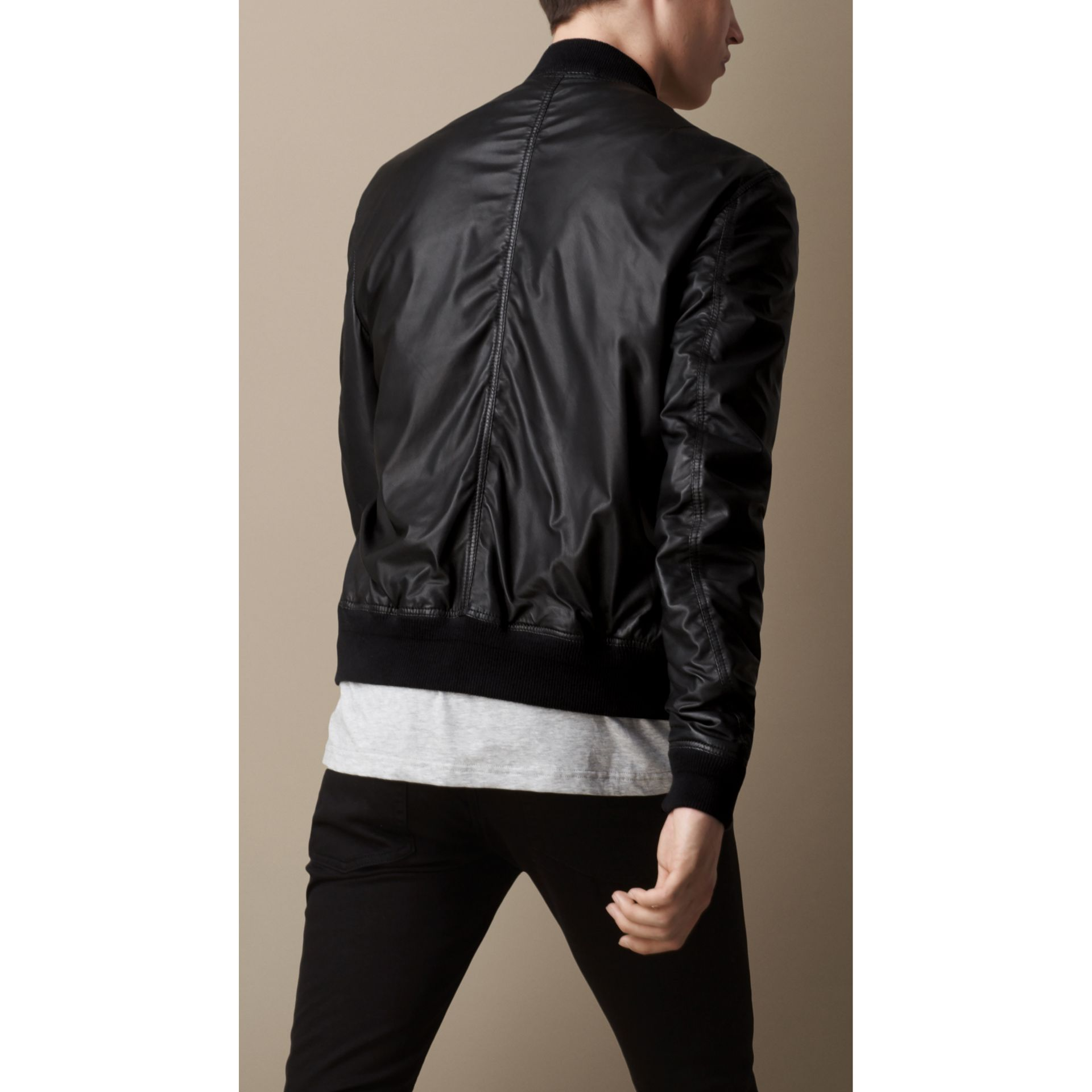 Nappa Leather Bomber Jacket - gallery image 2