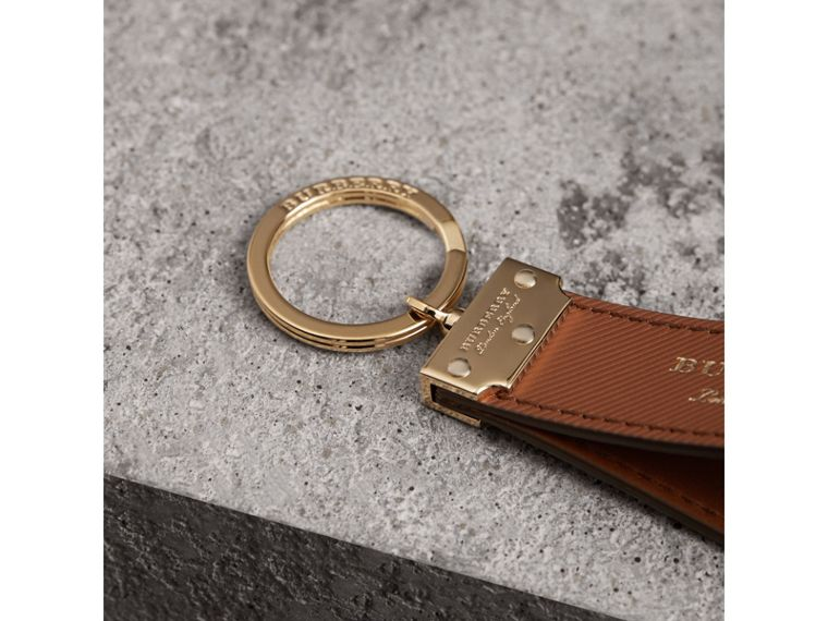 Trench Leather Key Ring in Tan | Burberry United Kingdom - cell image 1