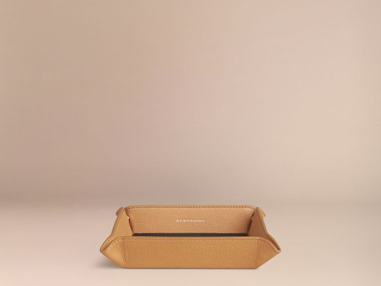 Ochre yellow Grainy Leather Valet Tray Ochre Yellow - cell image 2