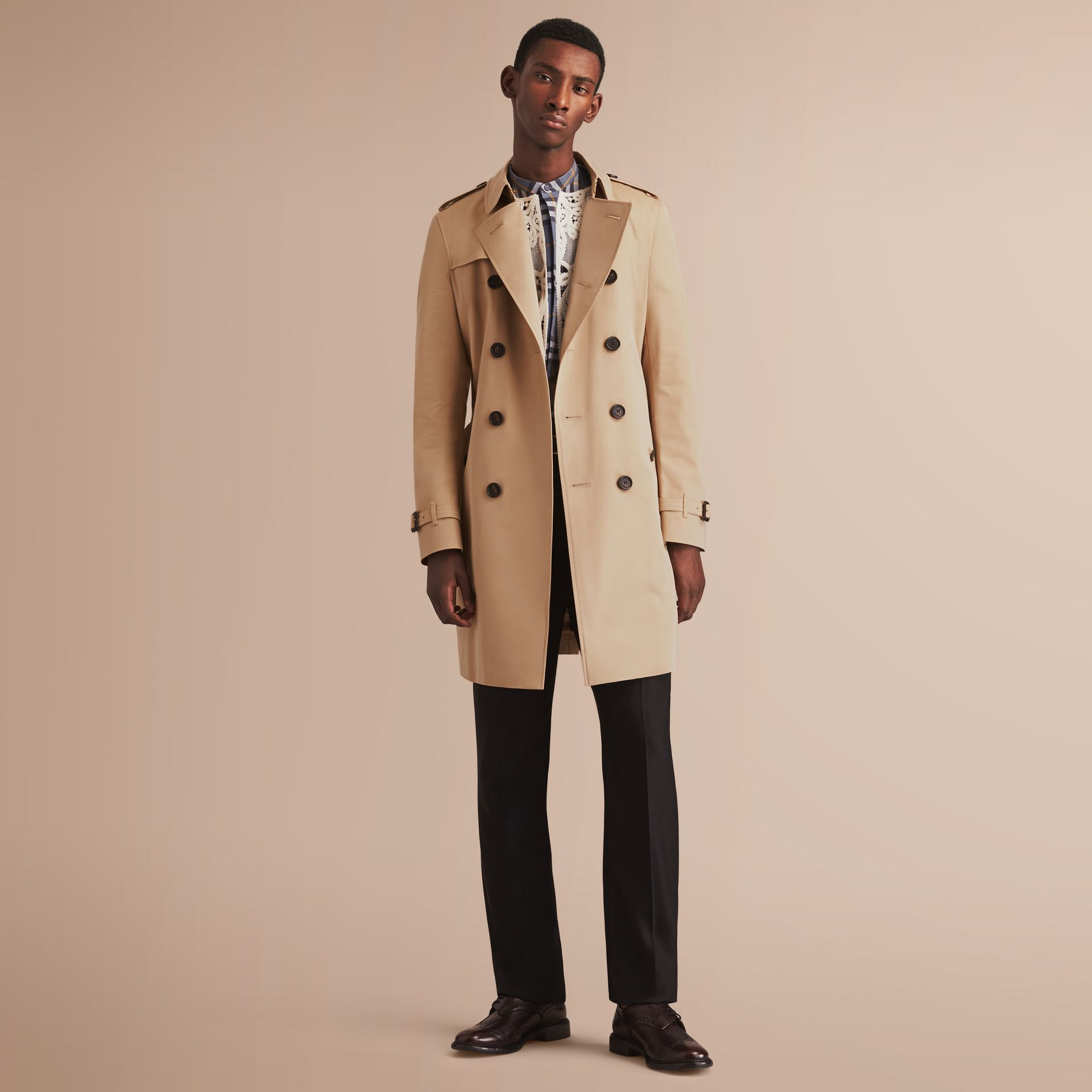 The Chelsea – Long Heritage Trench Coat in Honey - gallery image 1