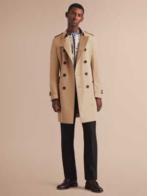 burberry trench coat outlet ozz5  The Chelsea  Long Heritage Trench Coat Honey