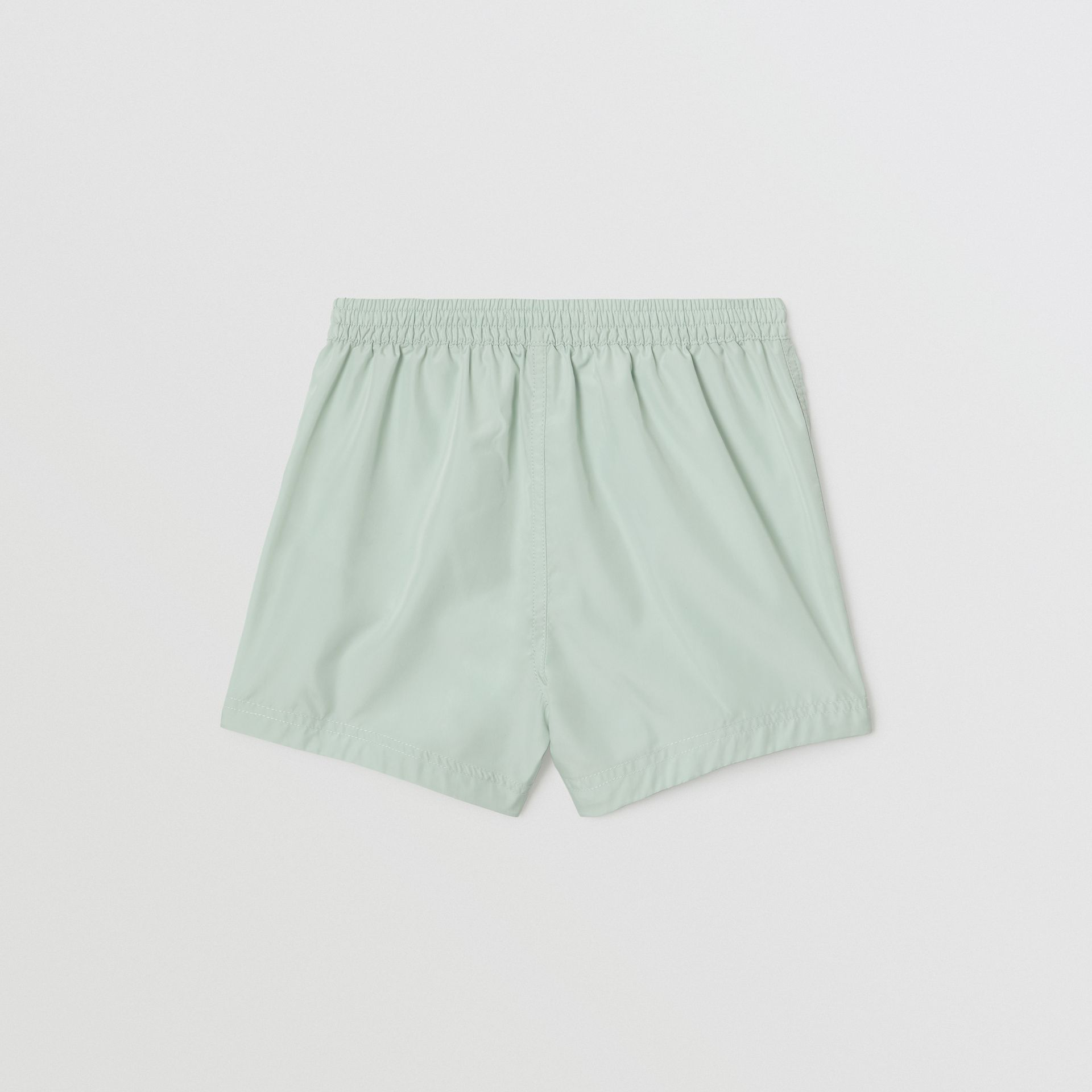 Logo Print Drawcord Swim Shorts in Pale Opal - Children | Burberry United Kingdom - gallery image 3