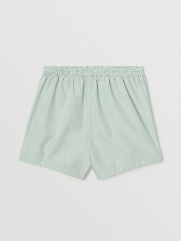 Logo Print Drawcord Swim Shorts in Pale Opal - Children | Burberry - cell image 3