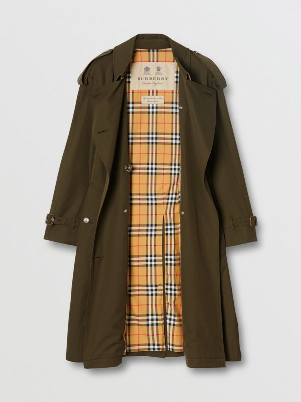 Tropical Gabardine Mid-length Trench Coat in Dark Military Khaki - Women | Burberry - cell image 3