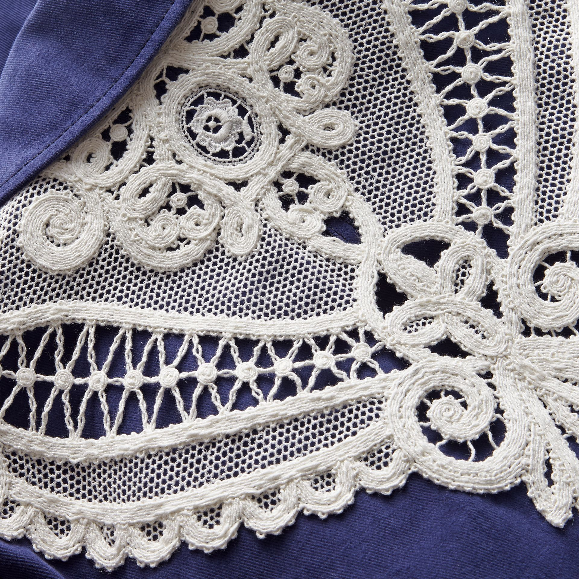 Lace Appliqué Cotton Artist Overalls - gallery image 2