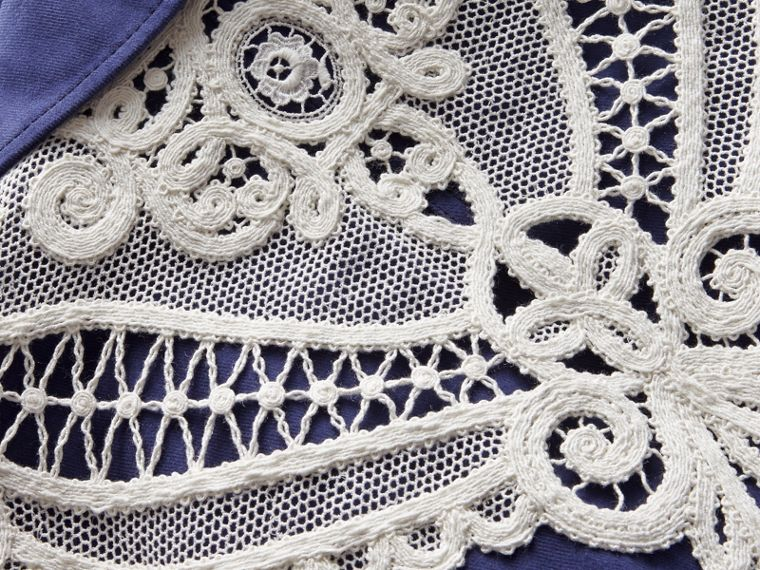 Lace Appliqué Cotton Artist Overalls - cell image 1