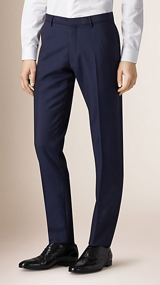 Slim Fit Wool Mohair Trousers