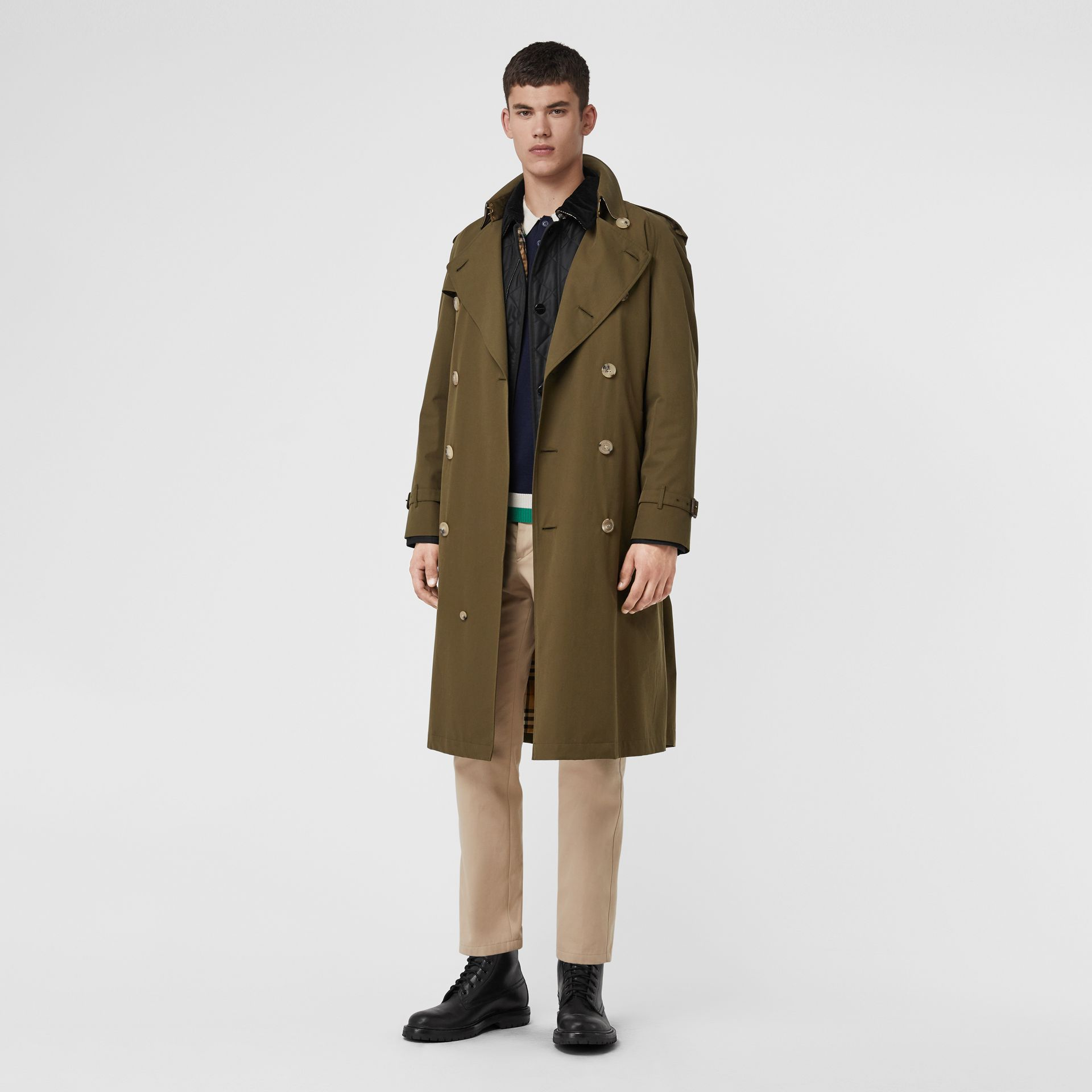 The Westminster Heritage Trench Coat in Dark Military Khaki - Men | Burberry Singapore - gallery image 6
