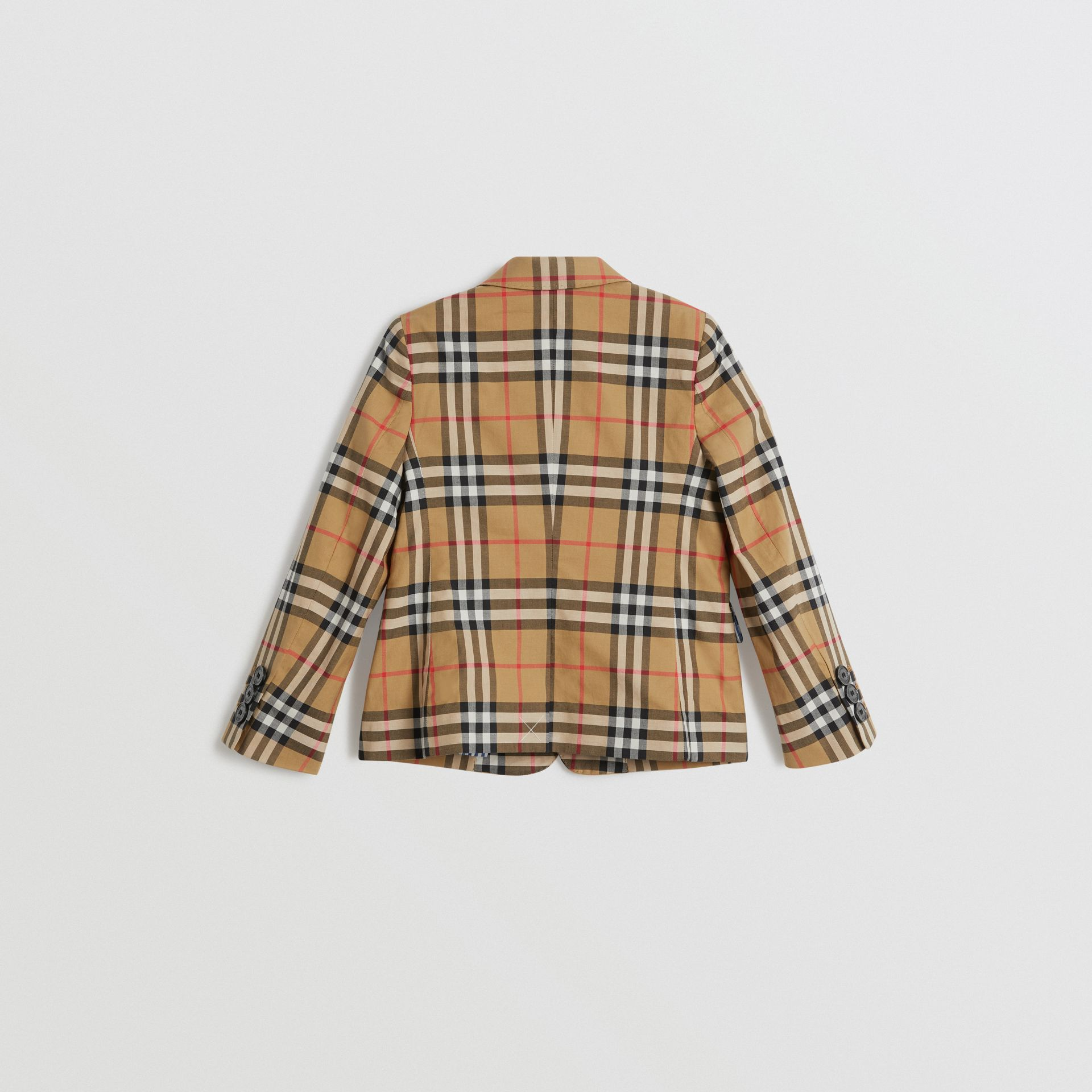 Vintage Check Cotton Blazer in Antique Yellow | Burberry - gallery image 2