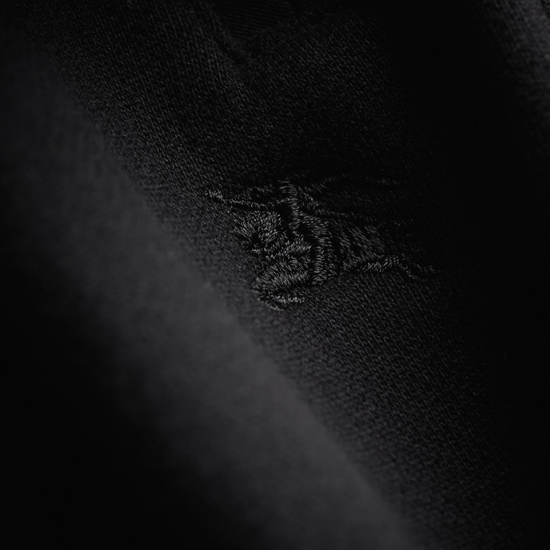 Drawcord Cotton Sweatpants in Black | Burberry - gallery image 2