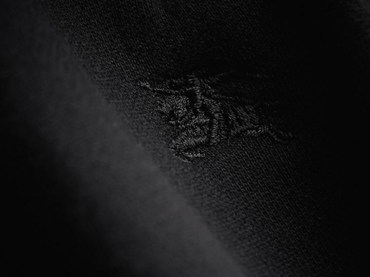 Drawcord Cotton Sweatpants in Black | Burberry - cell image 1