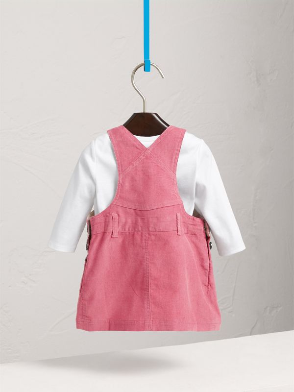 Cotton Corduroy Pinafore Dress in Mauve Pink | Burberry United States - cell image 3