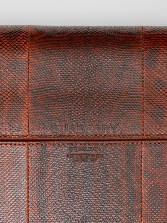 Large Snakeskin Grace Bag in Orange - Women | Burberry United Kingdom - cell image 1
