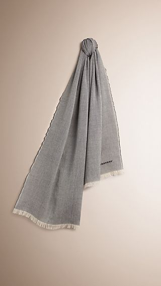 Lightweight Chambray Wool Cashmere Scarf