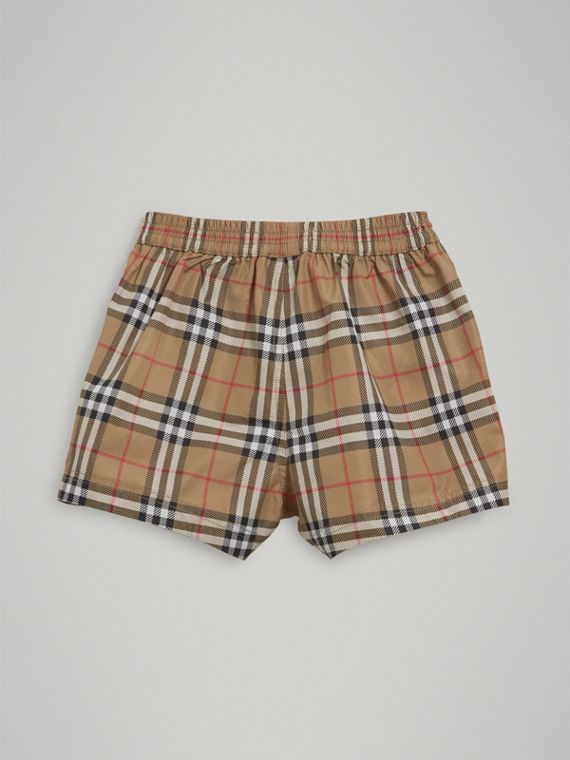 Check Swim Shorts in Camel | Burberry United Kingdom - cell image 3