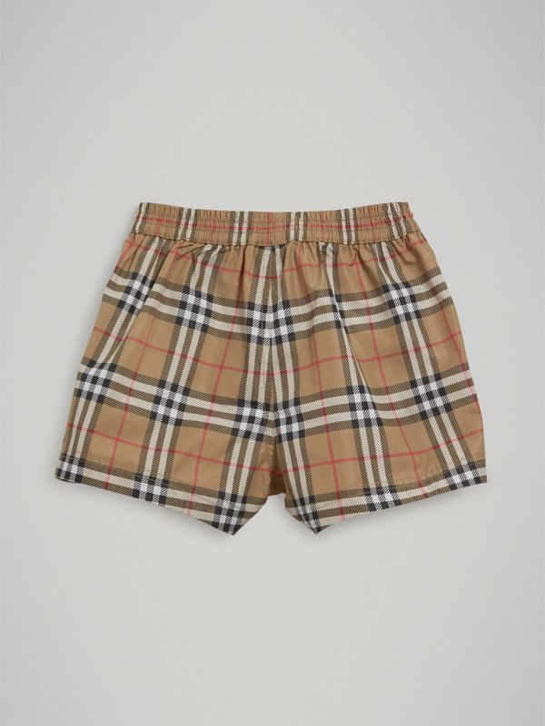 Check Swim Shorts in Camel - Children | Burberry - cell image 3