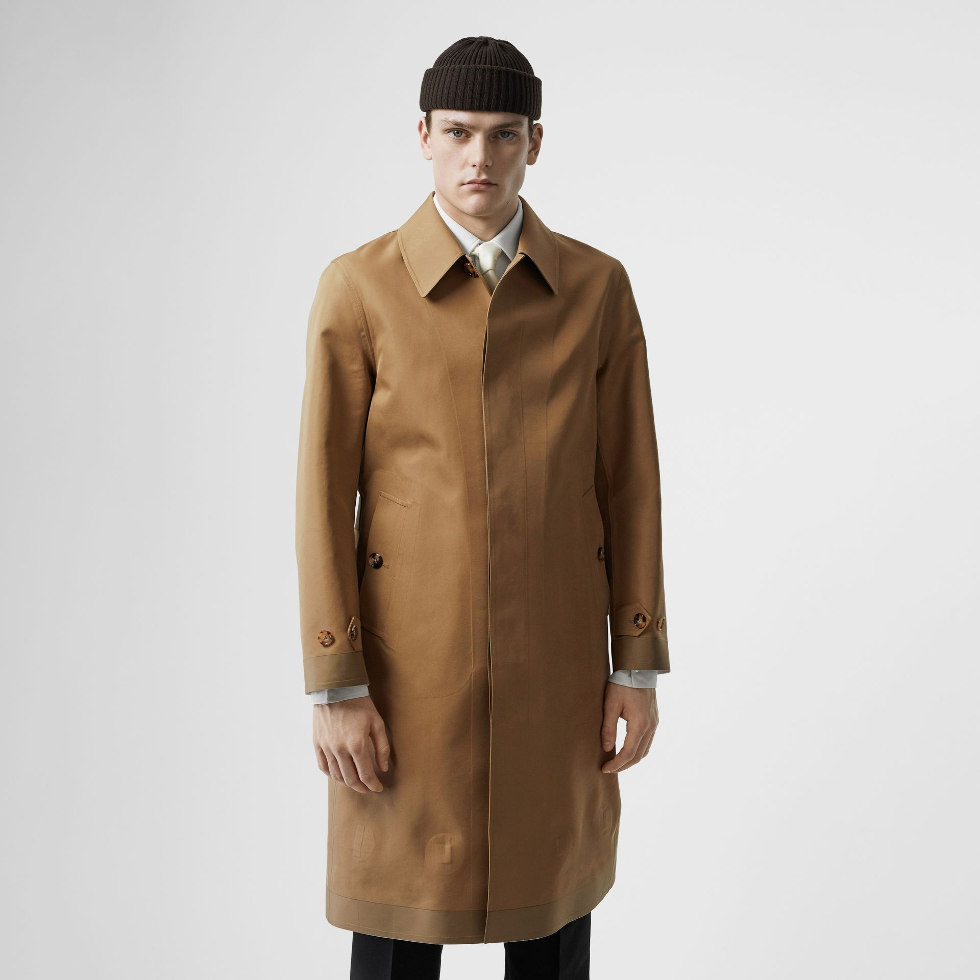 Double-faced Cotton Silk Car Coat in Camel - Men | Burberry - gallery image 5